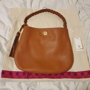 NWT Tory Burch Brooke Pebbled Leather Hobo Bag